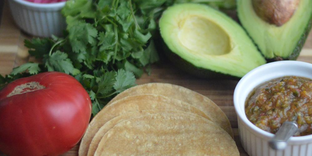 Homemade Salsa and local tortillas