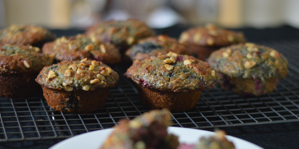 Healthy Mixed Berry Muffins