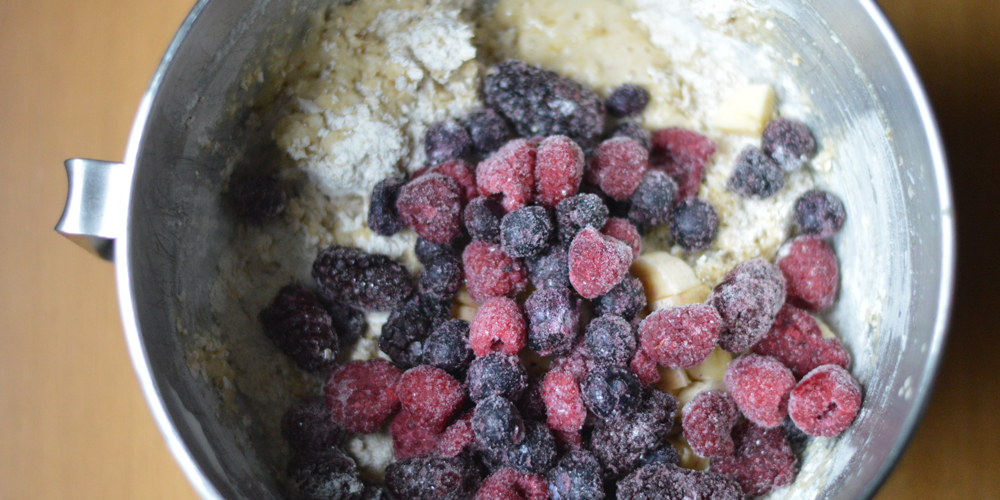 Healthy Mixed Berry Muffins Mix