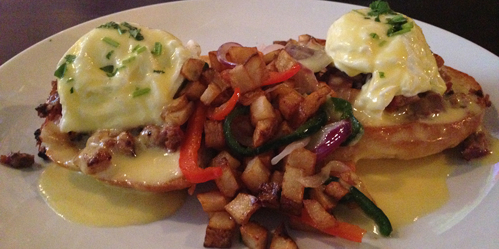 The camera on my phone doesn't do this Pork Belly Confit Benedict justice.