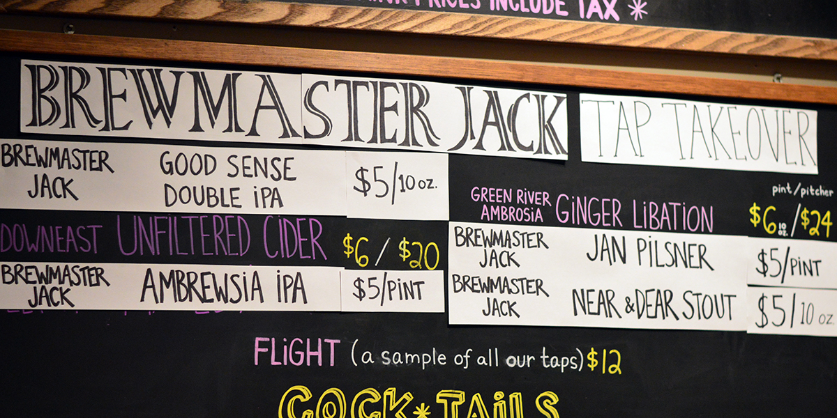 Recent Tap Takeover by Brewmaster Jack